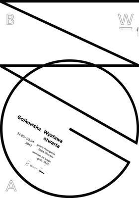 Plakat Gołkowska. Wystawa otwarta