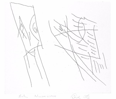"Jerzy Panek,  ""Niewidomi erotomani"", 1993, akwaforta, 49 x 56,5 cm"