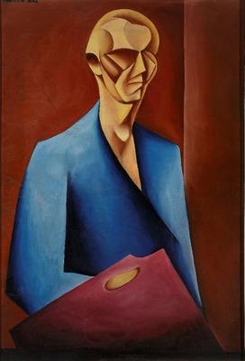 Wykłady historii sztuki, M. Szczuka, Autoportret z paletą, 1920 r.