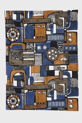 Tkanina dekoracyjna, Paterak T. - projekt, warsztaty szkolne PWSSP w Łodzi, 1962 r.
