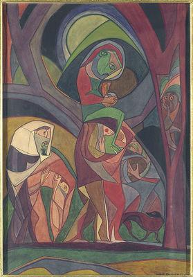 Andrzej Pronaszko (1888–1961) - Procesja, 1916, fot. Piotr Ligier, Muzeum Narodowe w Warszawie