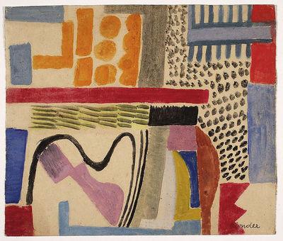 Sasza Blonder (1909–1949) - Kompozycja, 1937, fot. Piotr Ligier, Muzeum Narodowe w Warszawie