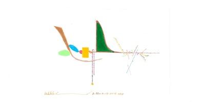 Robert Horvitz, Mental Weather (Mentalna pogoda), atrament na papierze, średnica, 40 cm, 8-9 June 2016, foto: Jiri Tatransky, dzięki uprzejmości artysty