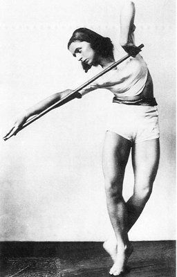 Rosalia Chladek, Taniec z drążkiem, 1930