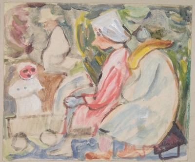 S. Blonder, MNK III-r.a-6579 Kompozycja figuralna,wys. 21.2 cm, szer. 25 cm